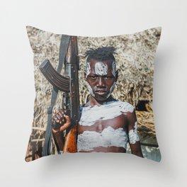 Karo Tribesboy Throw Pillow