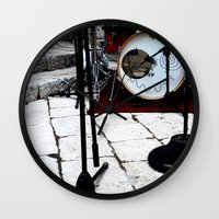 bianca Wall Clocks featuring Notte Bianca by Sara Ess