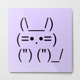 Text Kitty Metal Print