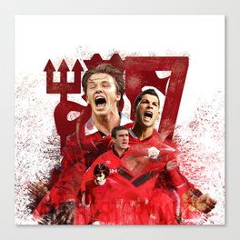 Man United Number 7 Canvas Print