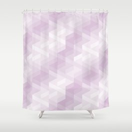 Tiles background in different shades of purple made with triangles mosaic Shower Curtain