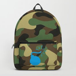 CAMO & LIGHT BLUE BOMB DIGGITY Backpack