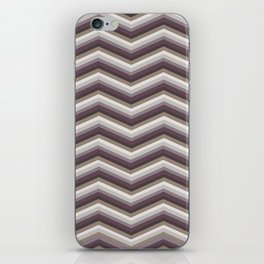 Geometrical ivory gray purple modern chevron iPhone Skin