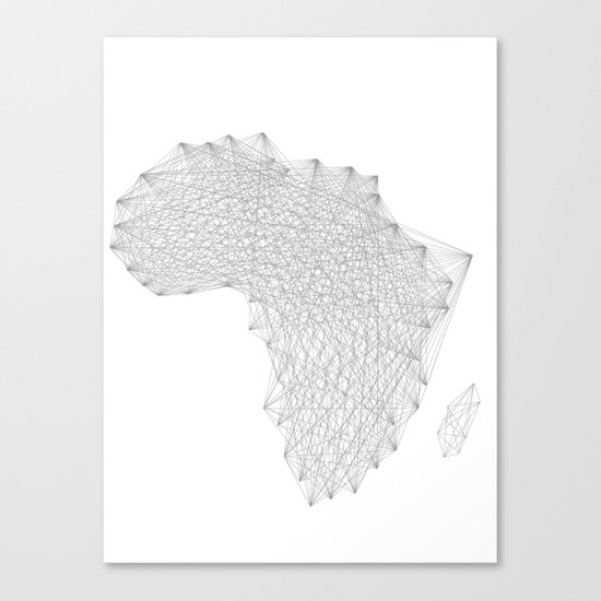 Vector Africa Canvas Print