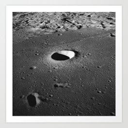 Apollo 10 - Moltke Moon Crater Art Print