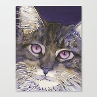 cs lewis Canvas Prints featuring Lewis by Cat Art by Lori Alexander