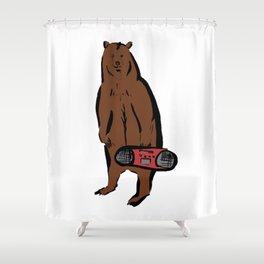 Boombox Bear Shower Curtain