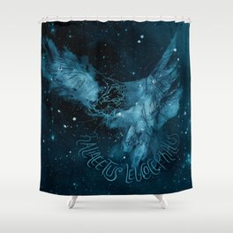 FIG. 756 color (Haliaeetus leucocephalus) Shower Curtain
