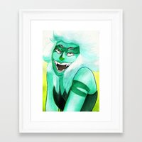 malachite Framed Art Prints featuring Malachite by Moth Studios Art