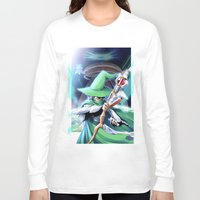 merlin Long Sleeve T-shirts featuring Young Merlin by panom