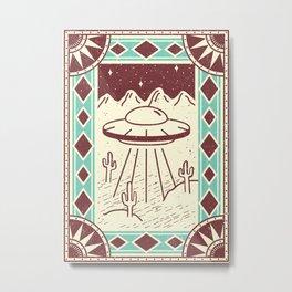 Alien in the Desert Metal Print