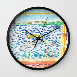 Aloe Vera by the Window Wall Clock