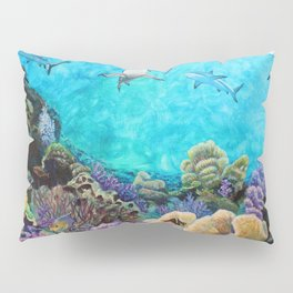 Shiver - Sharks in the Reef Pillow Sham