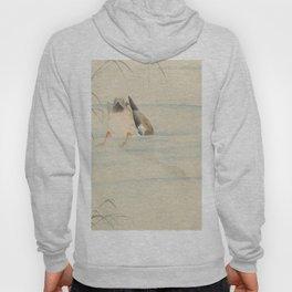 Wild duck, the head under water - Ohara Koson (1900-1930) Hoody