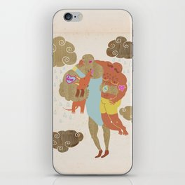 when you love somebody you hold them tight iPhone Skin