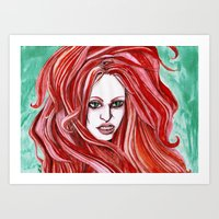 Red Witch Art Print