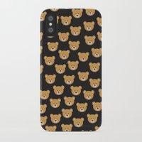 moschino iPhone & iPod Cases featuring teddy bear pattern by Marta Olga Klara