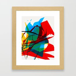 Abstract art made by Thimeo 19 months Framed Art Print