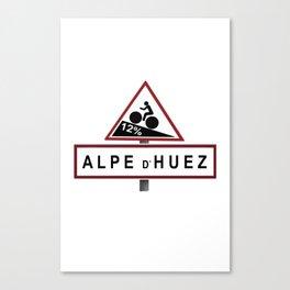 Alpe d'Huez Road Sign Canvas Print