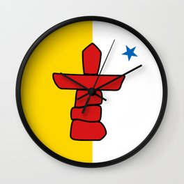 Flag of Nunavut - High quality authentic version Wall Clock