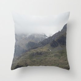 There be Mountains Throw Pillow