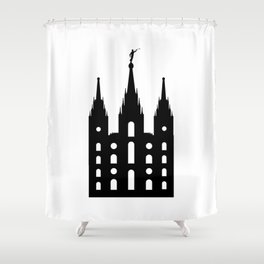 Mormon Style Temple Shower Curtain