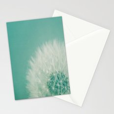 Aqua Dandelion  Stationery Cards
