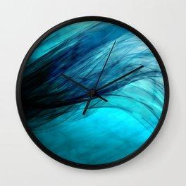 Cyan Wave Wall Clock