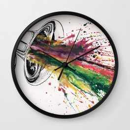 Seeing Sound IV Wall Clock