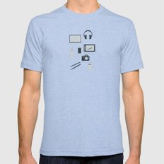 Day in the Life Tri-Blue X-LARGE Mens Fitted Tee