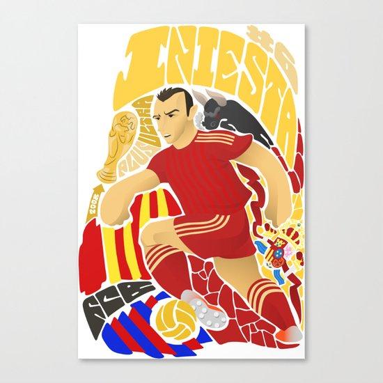Iniesta Canvas Print