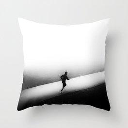 A Run in the Park Throw Pillow