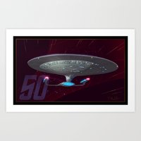 Trek 50 TNG Art Print