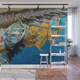 Norwegian Row Boat And Reflections Wall Mural