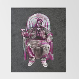 Notorious Big *King* Throw Blanket