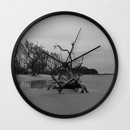 Ghost Trees - Driftwood Beach Wall Clock