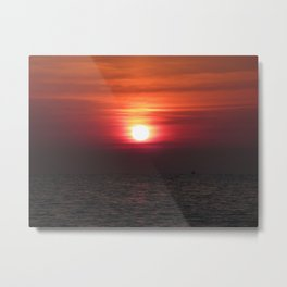 SUNRISE ON THE ADRIATIQUE SEA Metal Print