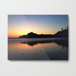 Cape Kiwanda Silhouette | Pacific City, Oregon Metal Print
