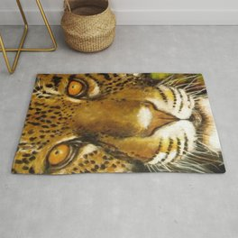 Wildlife Animal Painting - Jaguar Rug