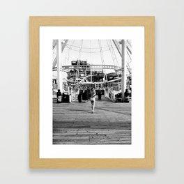 Lisa on the Boardwalk Framed Art Print