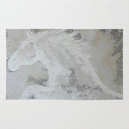 Cheval de rêve  Dream Horse  Original multi media painting by Tracy Sayers Trombetta Rug