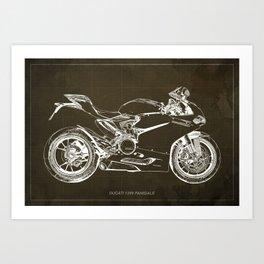 01- D Superbike 1299 Panigale 2015 BROWN Art Print