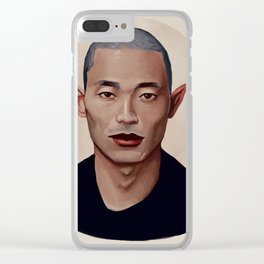 Elf Portrait Clear iPhone Case