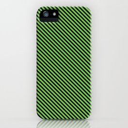 Green Flash and Black Stripe iPhone Case