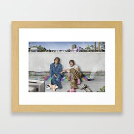 John and Paul get away from it all Framed Art Print