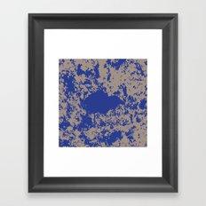 mauer fleck Framed Art Print
