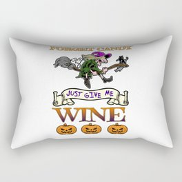 Halloween Costume Forget Candy Just Give Me Wine Gift Rectangular Pillow