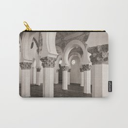 The Historic Arches in the Synagogue of Santa María la Blanca, Toledo Spain (2) Carry-All Pouch