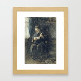 De rabbi, Jozef Israels, 1834 - 1911 Framed Art Print