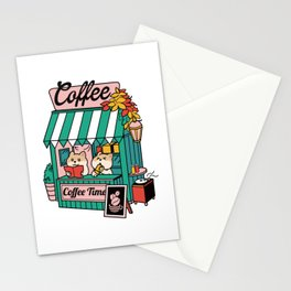 Happy Coffee Time Stationery Cards